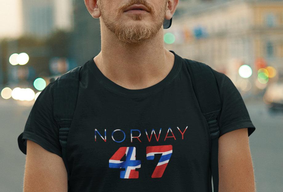Norway Mens Black T-Shirt