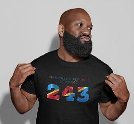 Democratic Republic of Congo 243 Mens T-Shirt