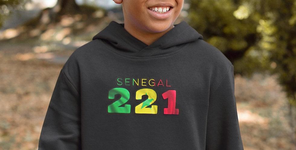 Senegal Childrens Black Hoodie