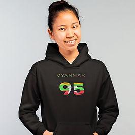 Myanmar 95 Womens Pullover Hoodie