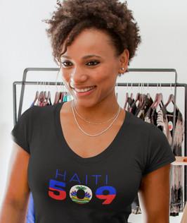 Haiti 509 Womens T-Shirt