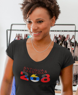 Antigua & Barbuda 268 Womens T-Shirt