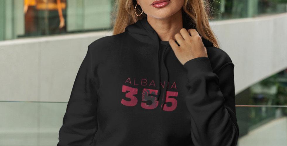 Albania Womens Black Hoodie