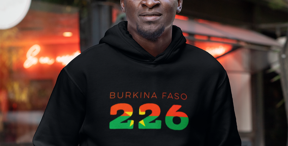 Burkina Faso Mens Pullover Hoodie