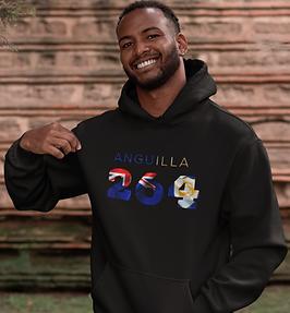 Anguilla 264 Men's Pullover Hoodie