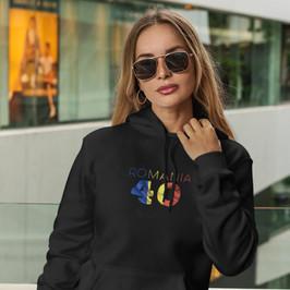 Romania 40 Womens Pullover Hoodie