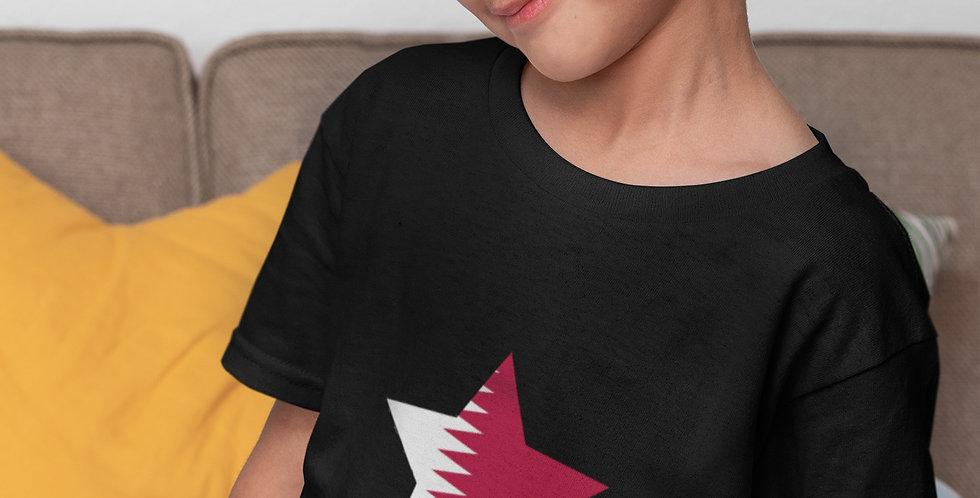 Childrens Qatar Black T-Shirt