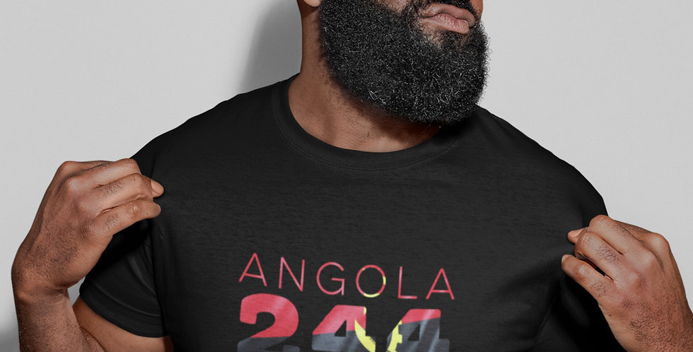 Angola Mens Black T-Shirt