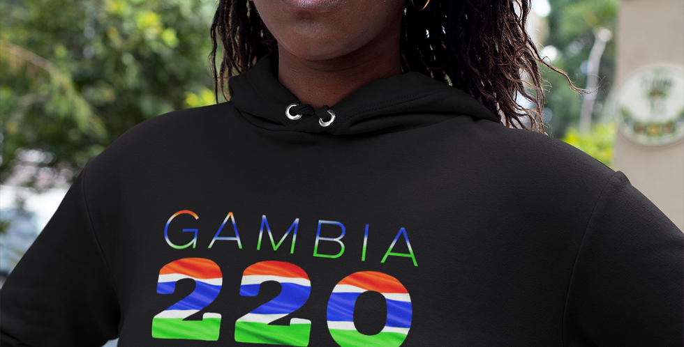 Gambia Womens Pullover Hoodie