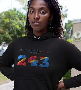 Democratic Republic of Congo 243 Women's Pullover Hoodie