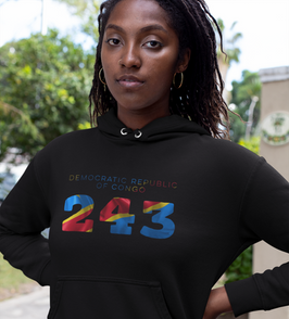 Democratic Republic of Congo 243 Women's Pullover Hoodie