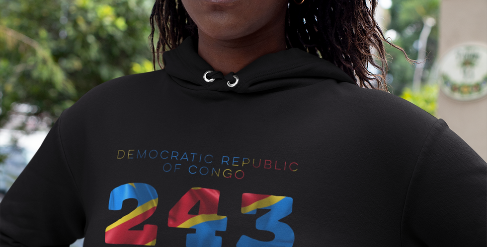 Democratic Republic of Congo Womens Pullover Hoodie