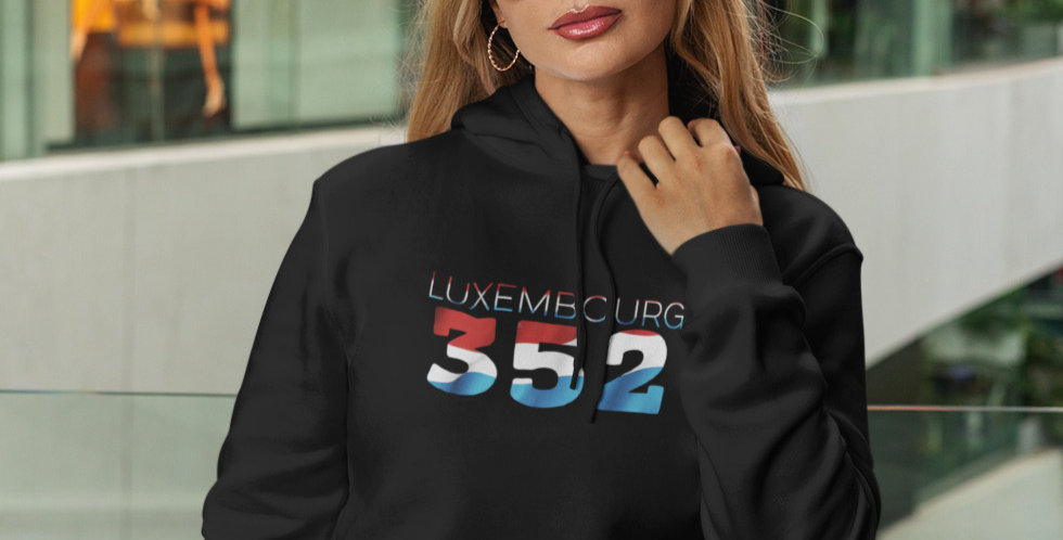Luxembourg Womens Black Hoodie