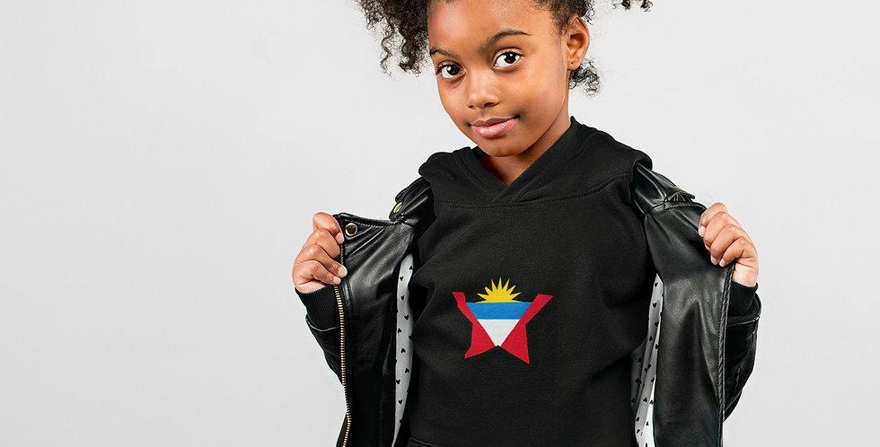 Antigua & Barbuda Childrens Black Hoodie