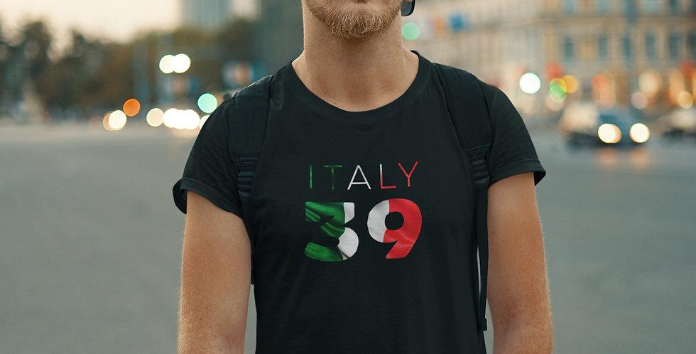 Italy Mens Black T-Shirt