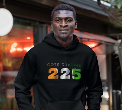 Côte d'Ivoire 225 Men's Pullover Hoodie