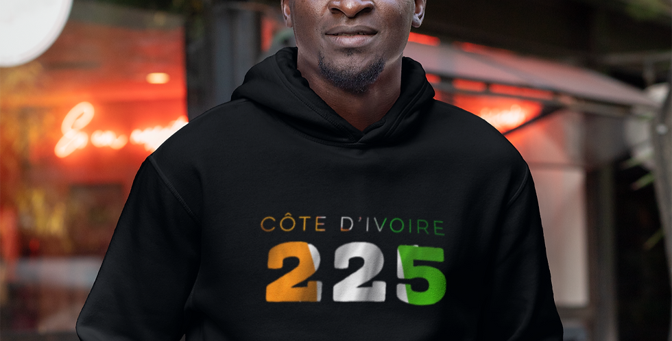 Cote d' Ivoire Mens Pullover Hoodie