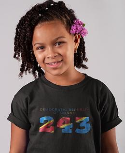 Democratic Republic of Congo Childrens T-Shirt