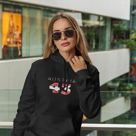 Austria 43 Womens Pullover Hoodie