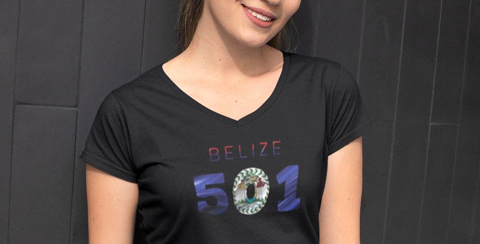 Belize Womens Black T-Shirt