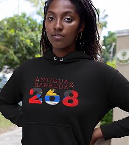 Antigua & Barbuda 268 Womens Pullover Hoodie