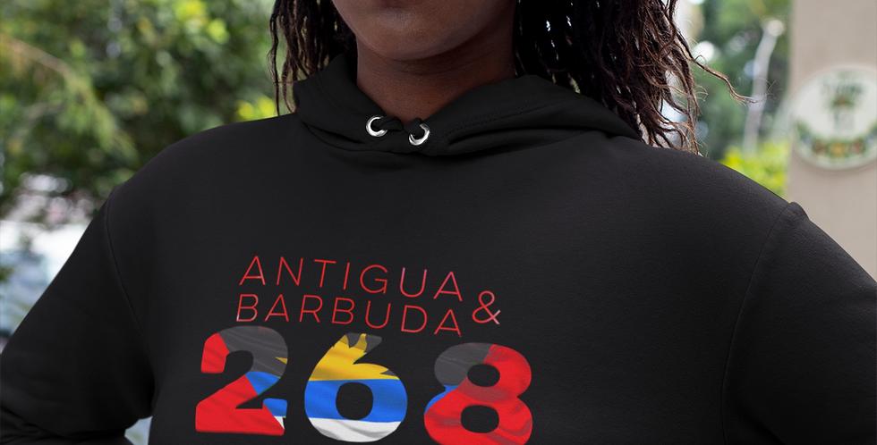 Antigua & Barbuda Womens Pullover Hoodie