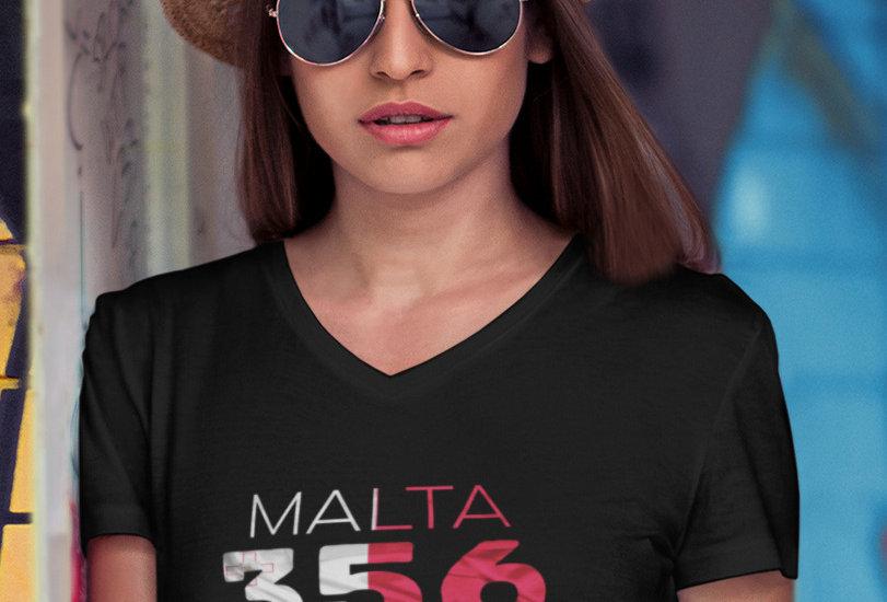 Malta Womens Black T-Shirt