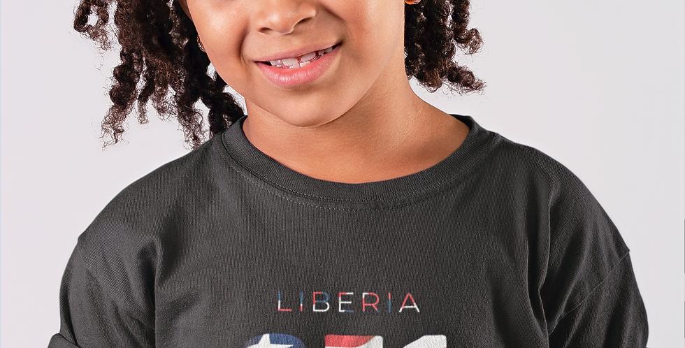 Liberia  Childrens Black T-Shirt