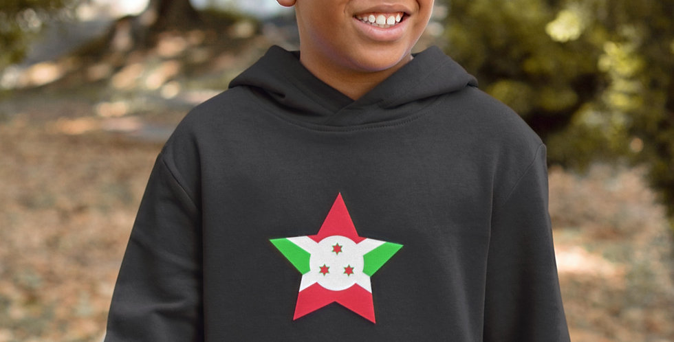 Burundi Childrens Black Hoodie