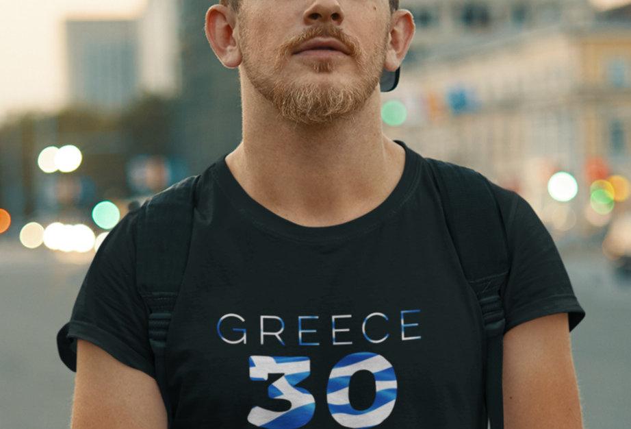 Greece Mens Black T-Shirt