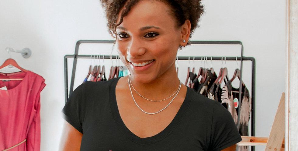Cape Verde Womens Black T-Shirt