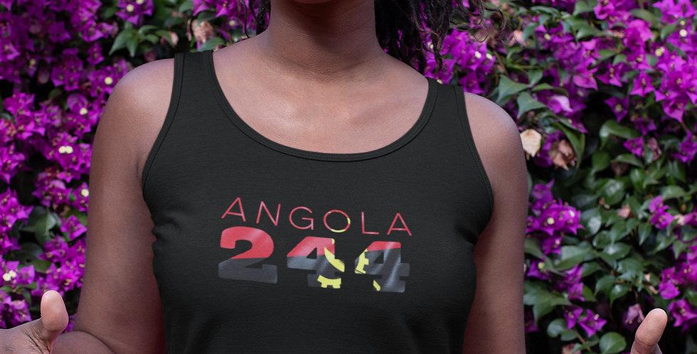 Angola Womens Black Vest Tank Top