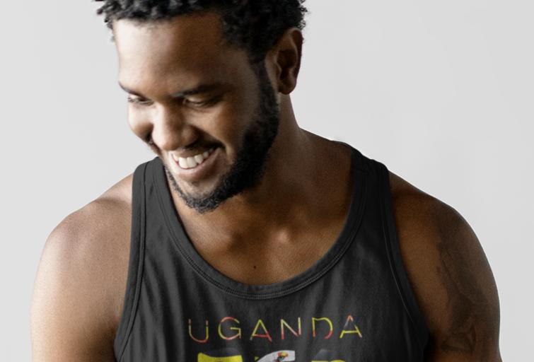 Uganda Mens Tank Top Vest