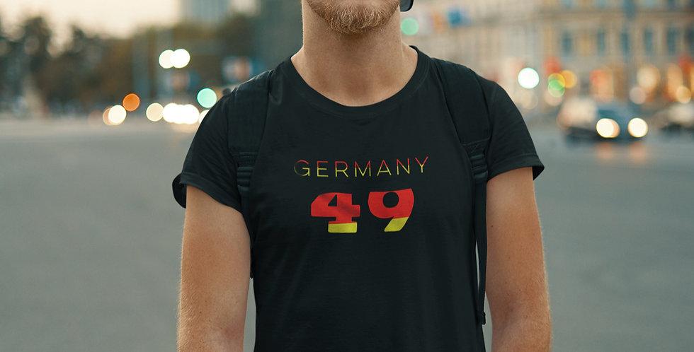 Germany Mens Black T-Shirt