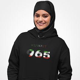 Kuwait 965 Womens Pullover Hoodie