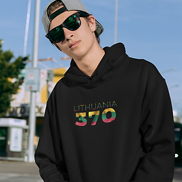Lithuania 370 Mens Pullover Hoodie