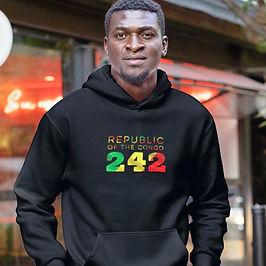 Republic of the Congo 242 Men's Pullover Hoodie