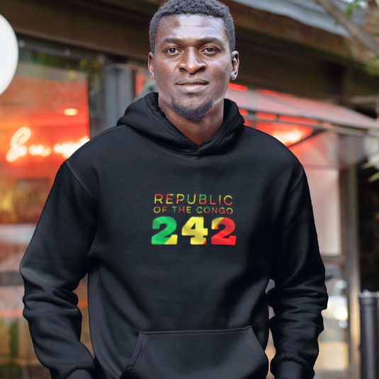 Republic of the Congo 242 Men's Pullover Hoodie