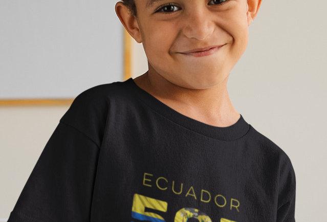 Childrens Ecuador Black T-Shirt
