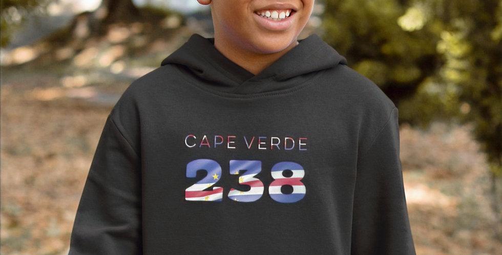 Cape Verde Childrens Black Hoodie