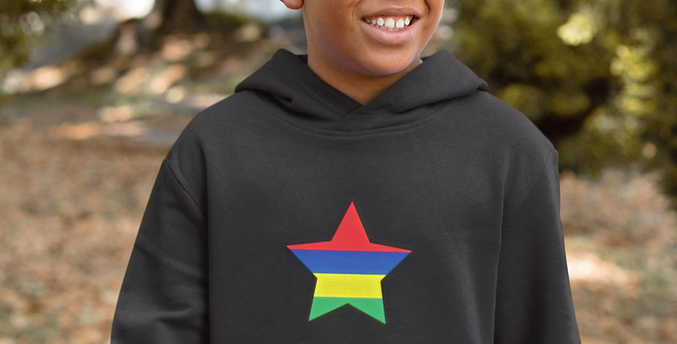 Mauritius Childrens Black Hoodie