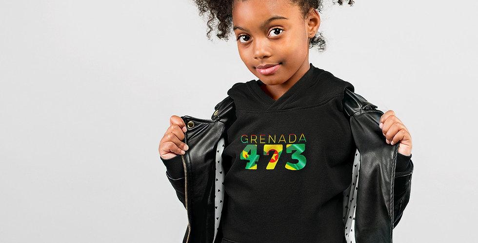 Childrens Grenada Black Hoodie