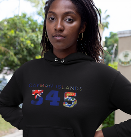 Cayman Islands 345 Women's Pullover Hoodie