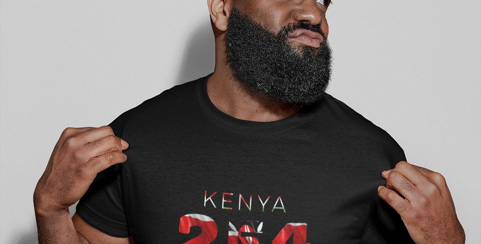Kenya Mens Black T-Shirt
