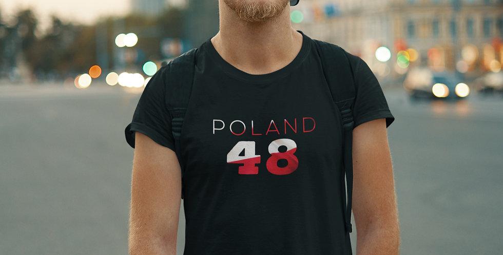 Poland Mens Black T-Shirt