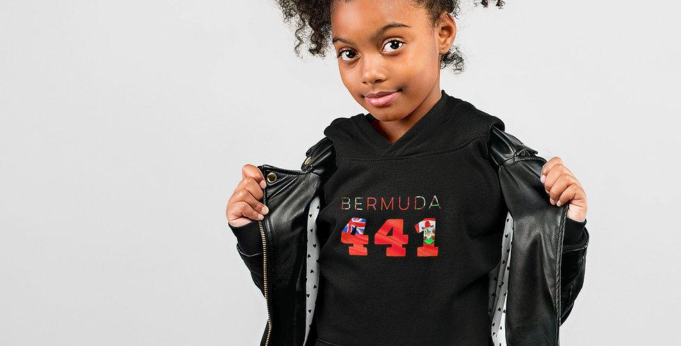Bermuda Childrens Black Hoodie