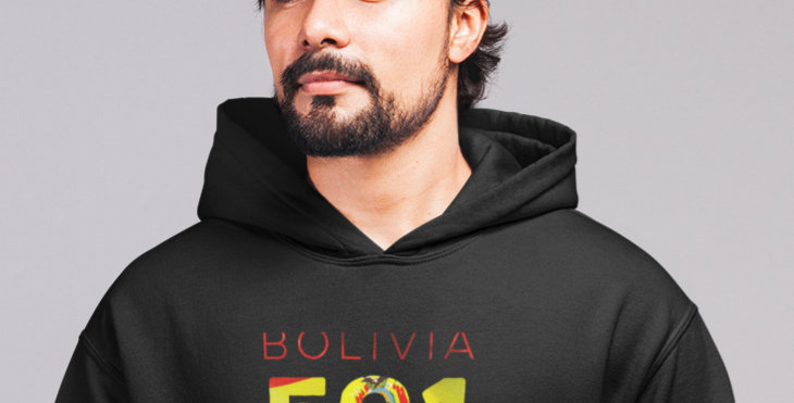 Bolivia Mens Pullover Hoodie