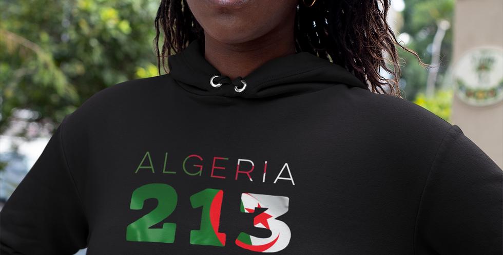 Algeria Womens Pullover Hoodie