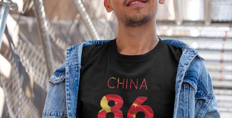 China Mens Black T-shirt
