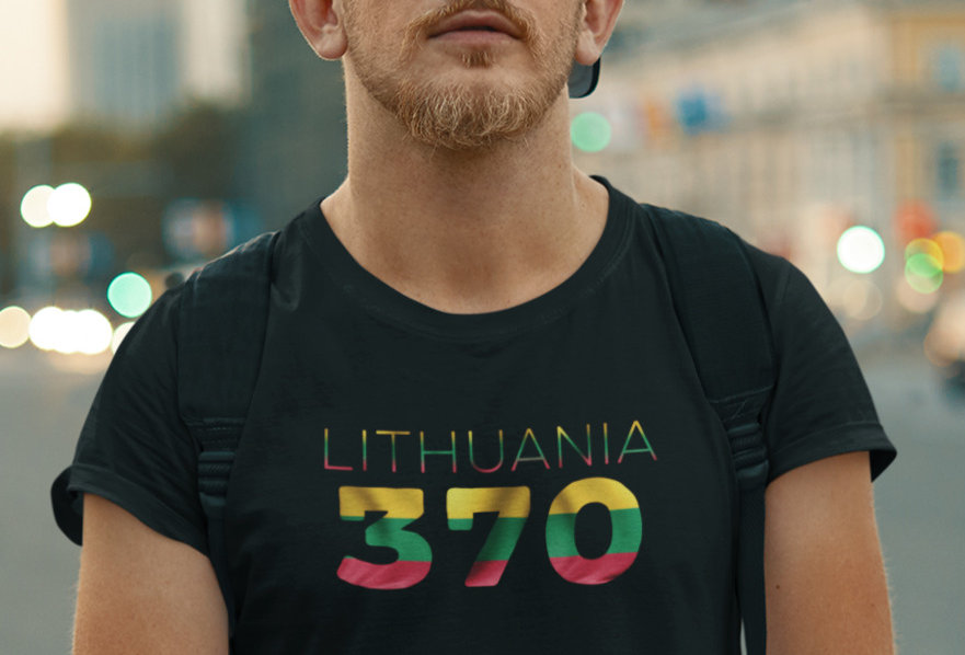 Lithuania Mens Black T-Shirt